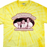 Mens Three Stooges Shirt Attorneys at Law Spider Tie Dye Tee T-shirt