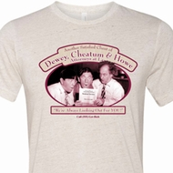 Mens Three Stooges Shirt Attorneys at Law Tri Blend Crewneck Tee