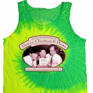 Mens Three Stooges Tanktop Attorneys at Law Tie Dye Tank Top
