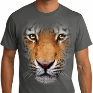 Mens Tiger Shirt Big Tiger Face Organic T-Shirt