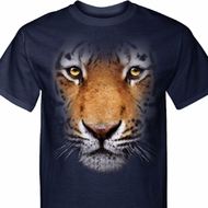 Mens Tiger Shirt Big Tiger Face Tall Tee T-Shirt