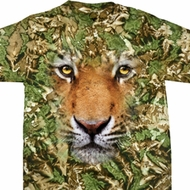 Mens Tiger Shirt Big Tiger Face Tie Dye T-shirt