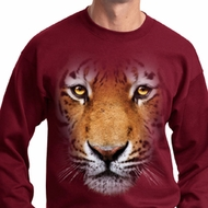 Mens Tiger Sweatshirt Big Tiger Face Sweat Shirt