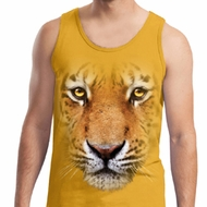 Mens Tiger Tanktop Big Tiger Face Tank Top