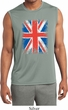 Mens UK Flag Shirt Union Jack Sleeveless Moisture Wicking Tee T-Shirt