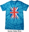 Mens UK Flag Shirt Union Jack Spider Tie Dye Tee T-shirt