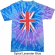 Mens UK Flag Shirt Union Jack Tie Dye Tee T-shirt