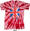 Mens UK Flag Shirt Union Jack Twist Tie Dye Tee T-shirt