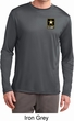 Mens US Army Pocket Print Dry Wicking Long Sleeve