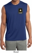 Mens US Army Pocket Print Dry Wicking Sleeveless Shirt