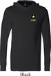 Mens US Army Pocket Print Lightweight Hoodie
