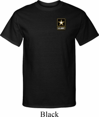 Mens US Army Pocket Print Tall T-shirt