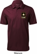 Mens US Army Pocket Print Textured Polo