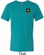 Mens US Army Pocket Print Tri Blend Tee