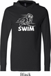 Mens White Penguin Power Swim Lightweight Hoodie