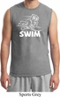 Mens White Penguin Power Swim Muscle Shirt