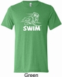 Mens White Penguin Power Swim Tri Blend Tee