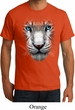 Mens White Tiger Shirt Big White Tiger Face Organic T-Shirt