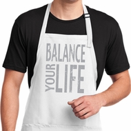 Mens Yoga Apron Balance Your Life Full Length Apron with Pockets