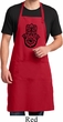 Mens Yoga Apron Black Hamsa Full Length Apron with Pockets
