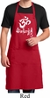 Mens Yoga Apron OM Mani Padme Hum Full Length Apron with Pockets