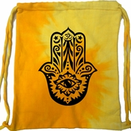 Mens Yoga Bag Black Hamsa Tie Dye Bag