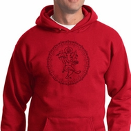 Mens Yoga Circle Ganesha Black Print Hoodie