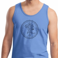 Mens Yoga Circle Ganesha Black Print Tank Top