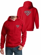 Mens Yoga Hoodie Super OM Front and Back Print Hoody