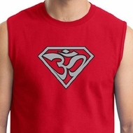 Mens Yoga Muscle Shirt Super OM Shirt