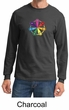 Mens Yoga Shirt 7 Chakra Circle Long Sleeve Tee T-Shirt