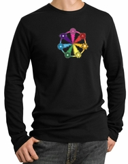 Mens Yoga Shirt 7 Chakra Circle Long Sleeve Thermal Tee T-Shirt