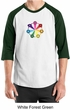 Mens Yoga Shirt 7 Chakra Circle Raglan Tee T-Shirt