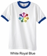 Mens Yoga Shirt 7 Chakra Circle Ringer Tee T-Shirt