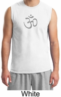 Mens Yoga Shirt - Aum Symbol Meditation Adult Muscle Shirt