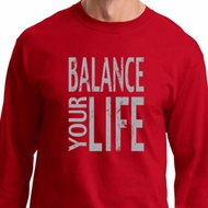 Mens Yoga Shirt Balance Your Life Long Sleeve Tee T-Shirt