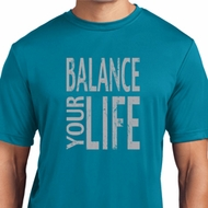 Mens Yoga Shirt Balance Your Life Moisture Wicking Tee T-Shirt