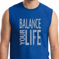 Mens Yoga Shirt Balance Your Life Muscle Tee T-Shirt