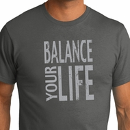 Mens Yoga Shirt Balance Your Life Organic Tee T-Shirt
