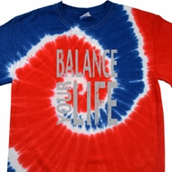 Mens Yoga Shirt Balance Your Life Patriotic Tie Dye Tee T-shirt