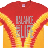 Mens Yoga Shirt Balance Your Life Premium Tie Dye Tee T-shirt