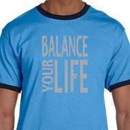 Mens Yoga Shirt Balance Your Life Ringer Tee T-Shirt