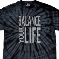 Mens Yoga Shirt Balance Your Life Spider Tie Dye Tee T-shirt