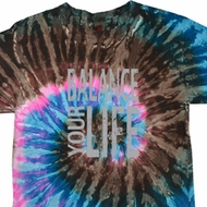 Mens Yoga Shirt Balance Your Life Tie Dye Tee T-shirt