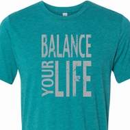 Mens Yoga Shirt Balance Your Life Tri Blend Crewneck Tee T-Shirt