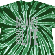 Mens Yoga Shirt Balance Your Life Twist Tie Dye Tee T-shirt