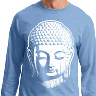 Mens Yoga Shirt Big Buddha Head Long Sleeve Tee T-Shirt