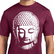 Mens Yoga Shirt Big Buddha Head Moisture Wicking Tee T-Shirt