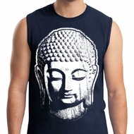 Mens Yoga Shirt Big Buddha Head Muscle Tee T-Shirt