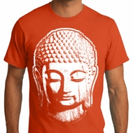 Mens Yoga Shirt Big Buddha Head Organic Tee T-Shirt